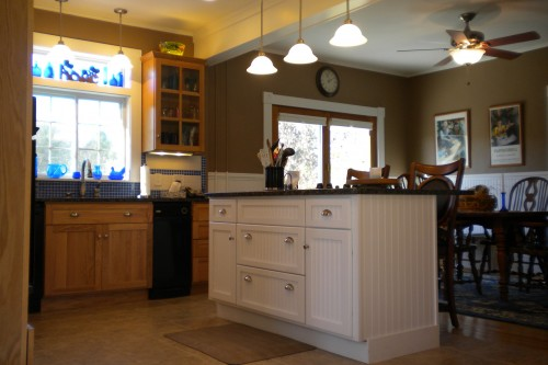 Photo of a kitchen in Barre Vermont after a completed remodeling project by Allied Building contractors