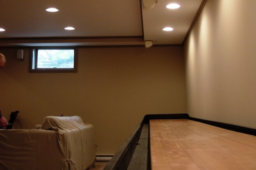 furnished waitsfield basement space after completion of remodeling project by allied contractors