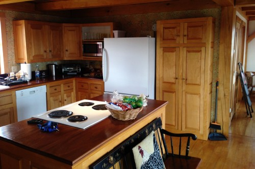 Kitchen before home remodeling project in central vermont