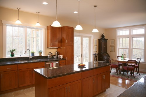 kitchen after completed central vermont home renovation project by allied contractors